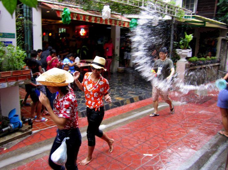 Songkran Festival in Bangkok, Thailand. Photo from AdventurousKate.com