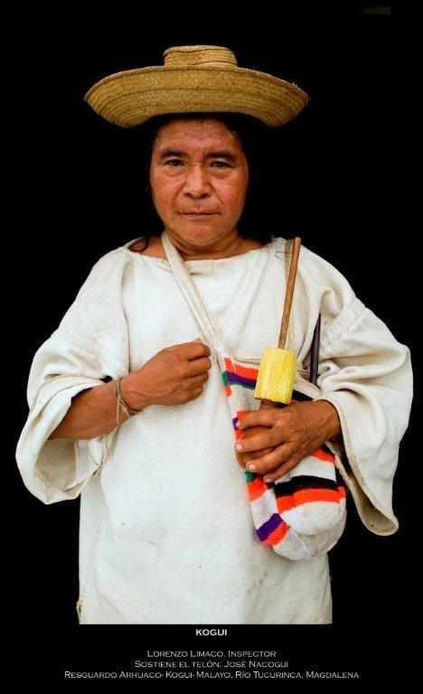 Míranos. Estamos Aquí: Líder Kogui. Crédito Antonio Briseño, 2012.