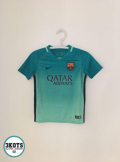 dbb795191 BARCELONA FC 2016 17 Third Football Shirt (Youth S) Soccer Jersey NIKE  Vintage