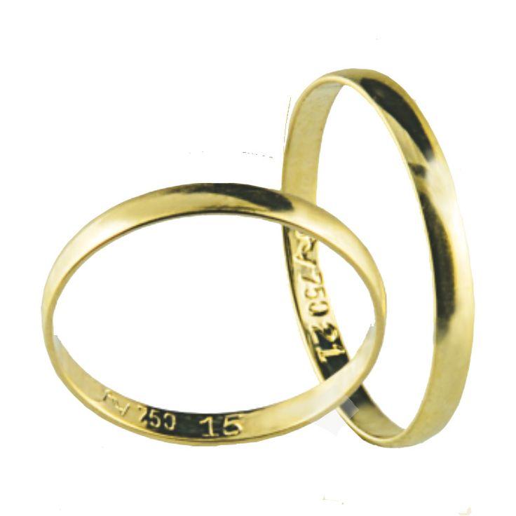 ALIANÇA TRADICIONAL.  Em ouro amarelo 18k.  Acesse: www.missjoias.com.br #missjoias #aquitem #vempramiss #luxo #joias #aliancas #noivos #casamento #noivado #aliancadecasamento