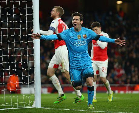 Dua Gol Messi Antar Barca Kalahkan Arsenal