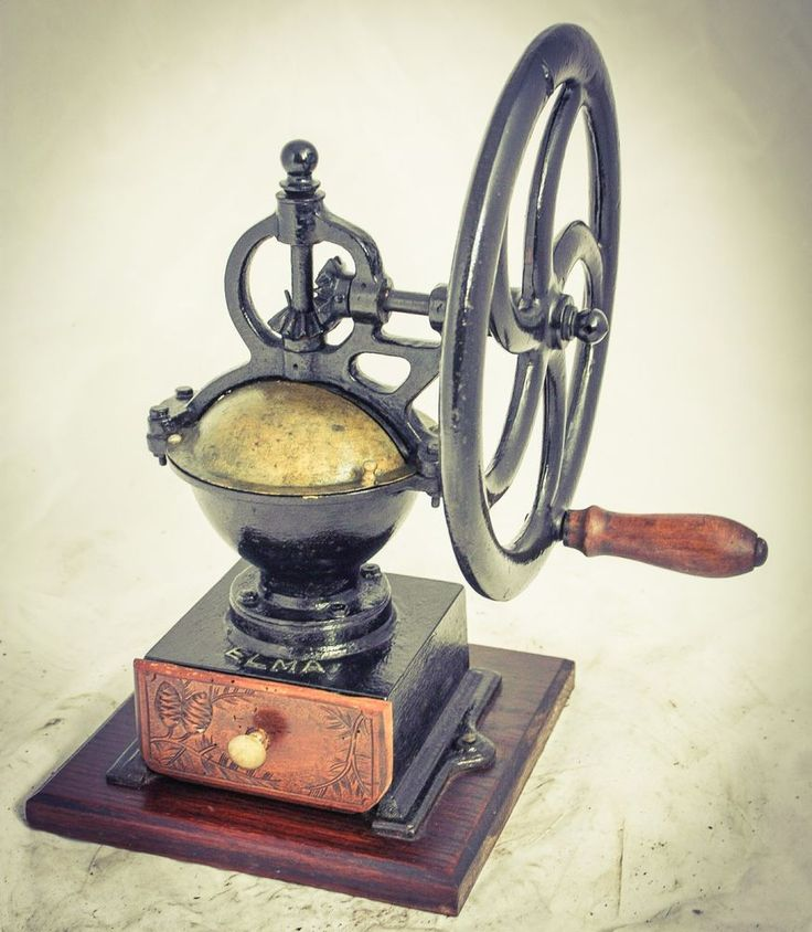 Antique ELMA Spanish Coffee Grinder Mill Moulin cafe Molinillo Kaffeemuehle #Elma