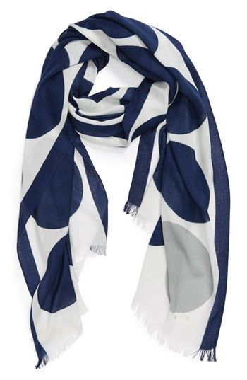 kate spade dot scarf in navy and grey (also in aqua/red and yellow/beige) {40% now during Nordstrom's Half Yearly Sale!}