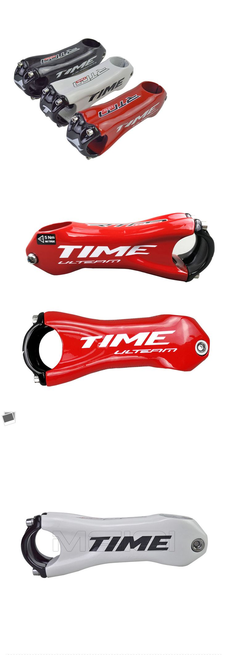 Stems 177827: Time Full Carbon Fiber Bicycle Stem Road Carbon Stem Bicycle Parts 6 Degree Ud -> BUY IT NOW ONLY: $38 on eBay!