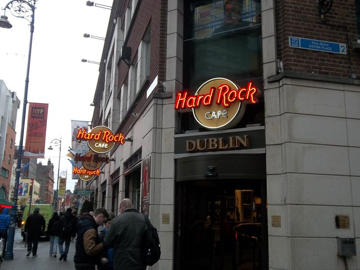 Hard Rock Cafe Dublin,  My first time being in one.