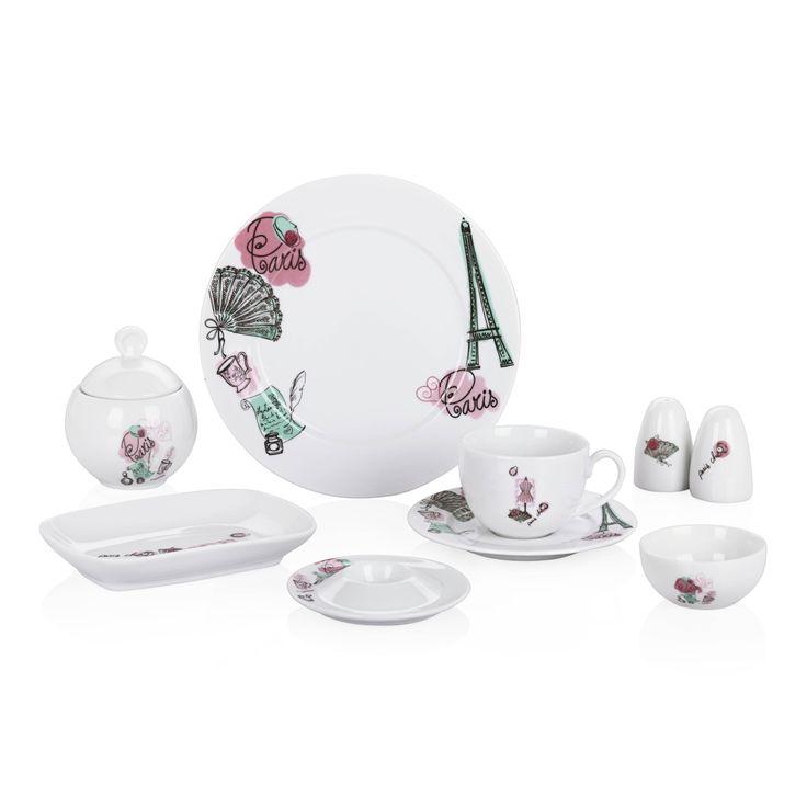 Bernardo Paris Kahvaltı Takımı / Breakfast Set #bernardo #breakfast #tabledesign #paris #porcelain #porselen