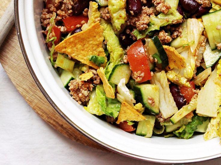 die besten 25 mexikanischer salat ideen auf pinterest rezepte mexikanisches fingerfood salat. Black Bedroom Furniture Sets. Home Design Ideas