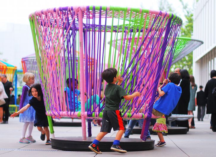 Colorful Spinning Tops transform traditional toys into large-scale interactive art in Atlanta | Inhabitat - Sustainable Design Innovation, Eco Architecture, Green Building