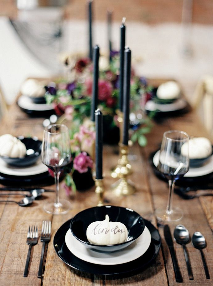 How to Throw a Girls' Night Halloween Dinner Party   theglitterguide