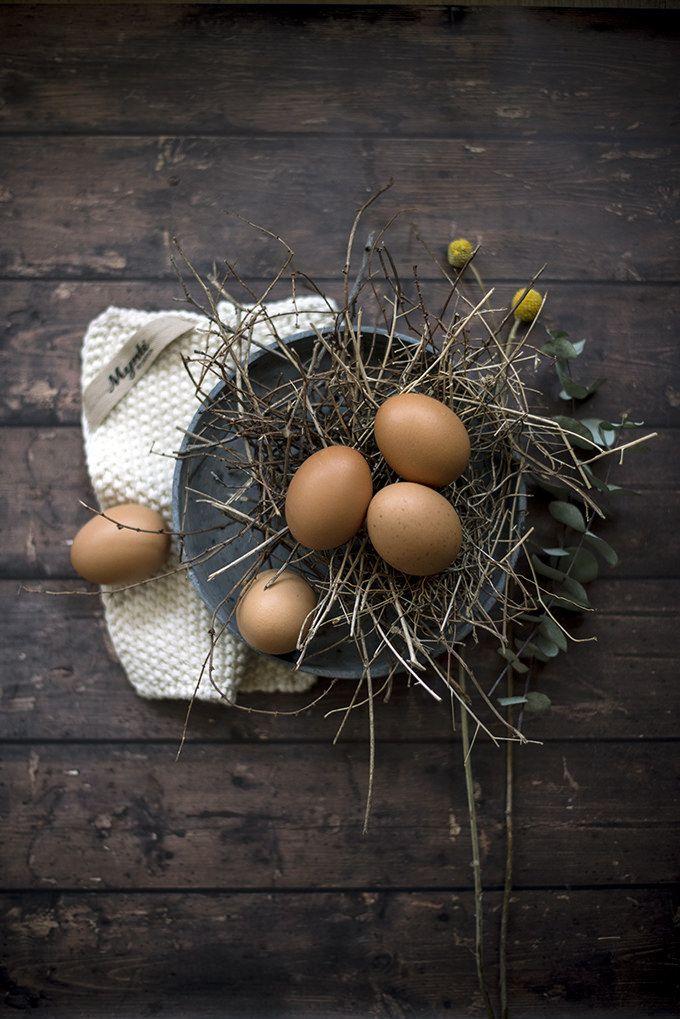 Crostone con funghi portobello, uova in camicia, groviera e burro all'aneto