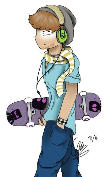 Hipster Herobrine. I liked mc before it was cool.