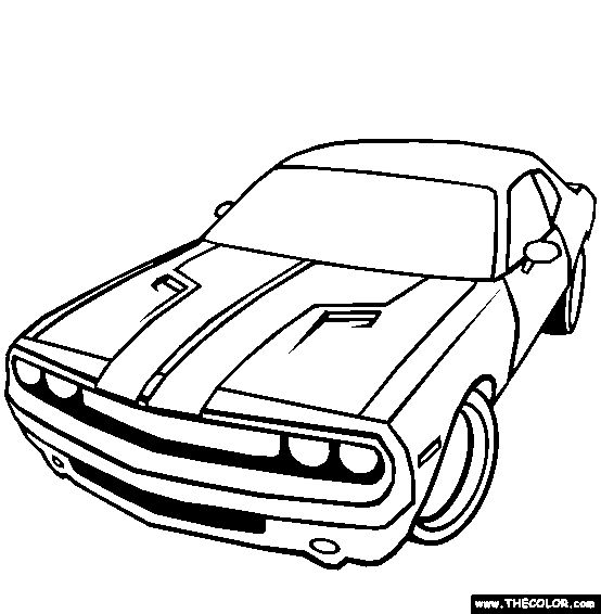 dodge challenger coloring page online coloring