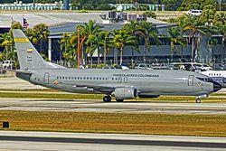 400FFuerza Aerea Colombiana, Boeing 737-400C, FAC1209 (15985053069).jpgAvión de transporte y carga78737-400FFlag of the United States.svg Estados Unidos