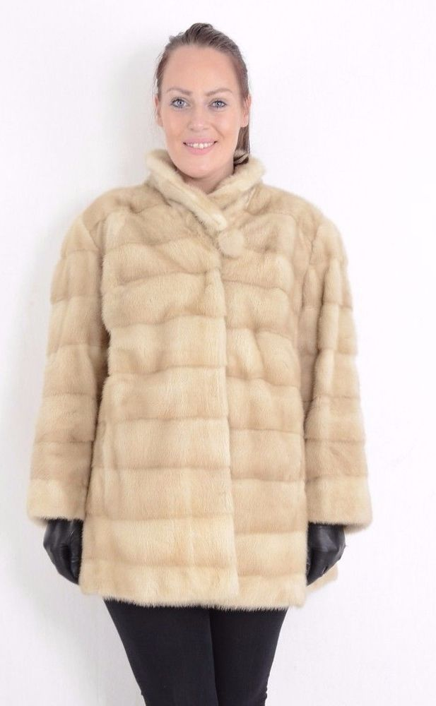 A752 Nerzjacke Nerz Pelz Jacke Pelzjacke Fur Mink Jacket Coat Nerzmantel ca. 2XL