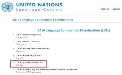 El examen de la ONU para traductores de español de 2016 | Traducir&Co