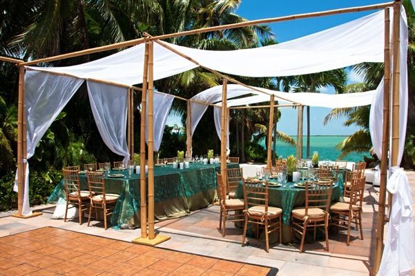 Florida Keys Wedding Party Rentals Key West Islamorada Bamboo Canopy | Teal Key West Wedding | Pinterest & Florida Keys Wedding Party Rentals Key West Islamorada Bamboo ...