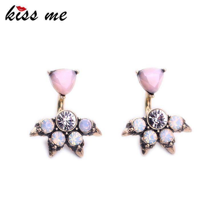 Kiss Me Marque Rose Opale Boucles D'oreilles pour les Femmes Mode Bijoux Parti Charme Antique Plaqué Or Boucles D'oreilles
