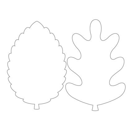 Autumn Leaf Templates