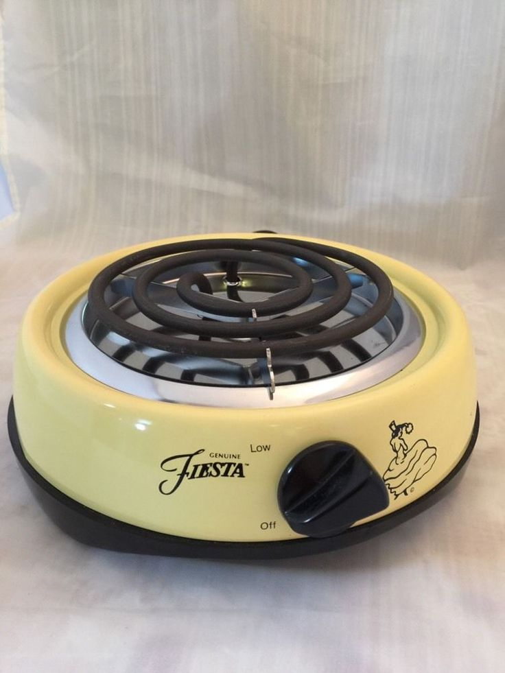 Fiesta® Dinnerware Yellow Single Burner Electric Hotplate | eBay