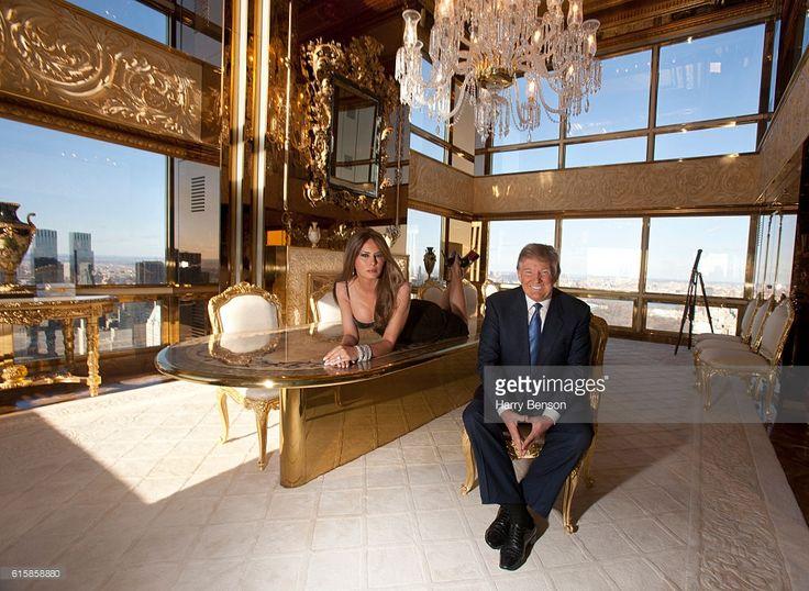 Entrepreneur Donald Trump And Third Wife Melania Trump Are