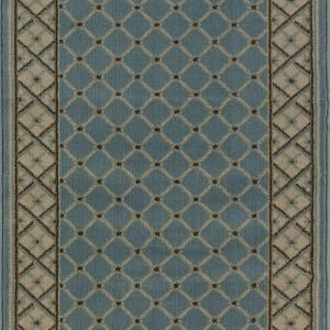 Stratford Bedford Light Blue 2 ft. 9 in. x Your Choice Length Roll Runner-8264BLWR at The Home Depot