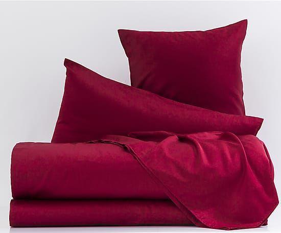 Completo letto in raso di cotone bordeaux