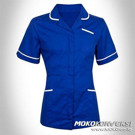 SERAGAM PERAWAT, MEDIS & PAKAIAN RUMAH SAKIT. Model Baju Dinas Perawat Terbaru Warna Biru.