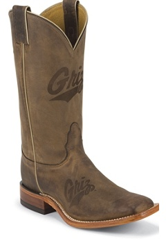 MONTANA BROWN COWHIDE BRANDED  MONTANA LOGO CENTERED ON FRONT QUARTER; DOUBLE STITCHED WELT,HANDCRAFTED IN THE USA