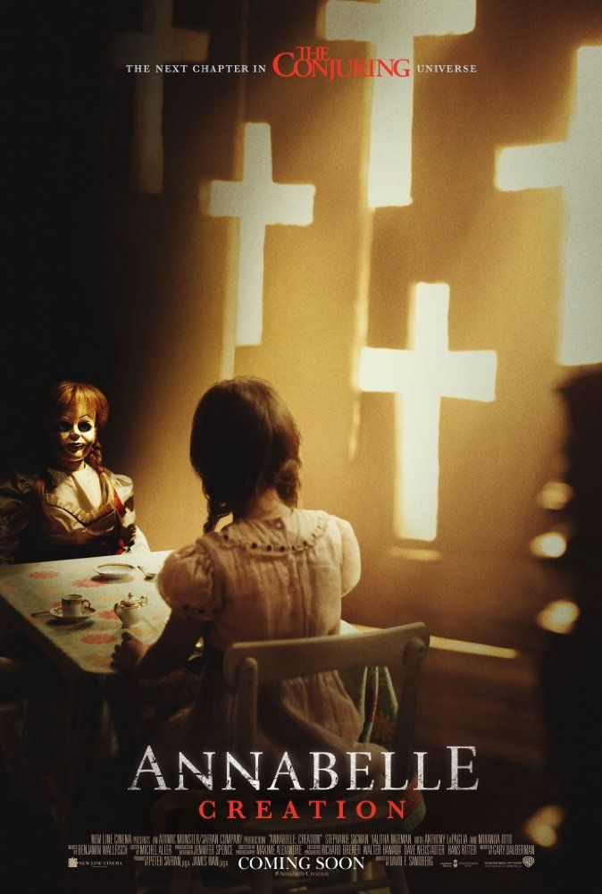 Horror | Several years after the tragic death of their little girl, a dollmaker and his wife welcome a nun and several girls from a shuttered orphanage into their home, soon becoming the target of the dollmaker's possessed creation, Annabelle.