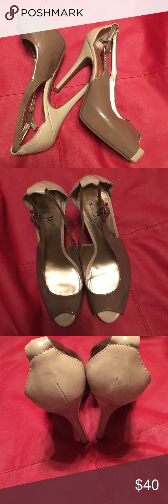 Two tone heels Worthington heels worn only a few times excellent condition Worthington Shoes Heels