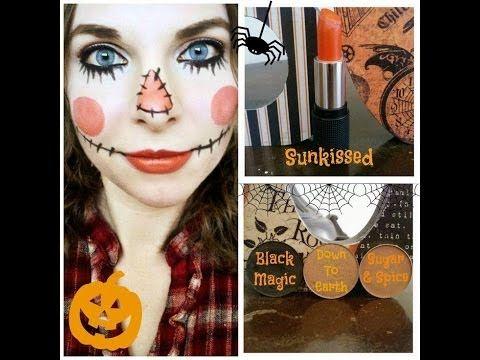 Cute Scarecrow Halloween Makeup Tutorial - YouTube