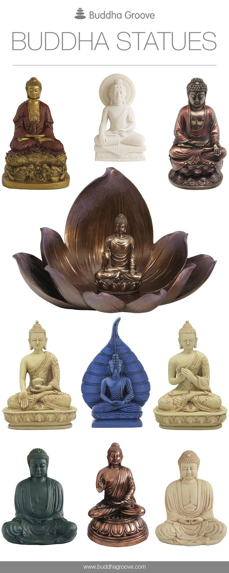 I also love Buddha! I have a bunch of them already. (: Buddha Statues by Buddha Groove