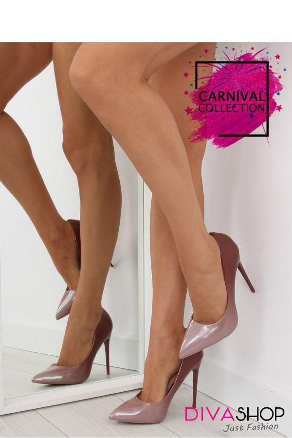 Pantofi cu toc roz Inello
