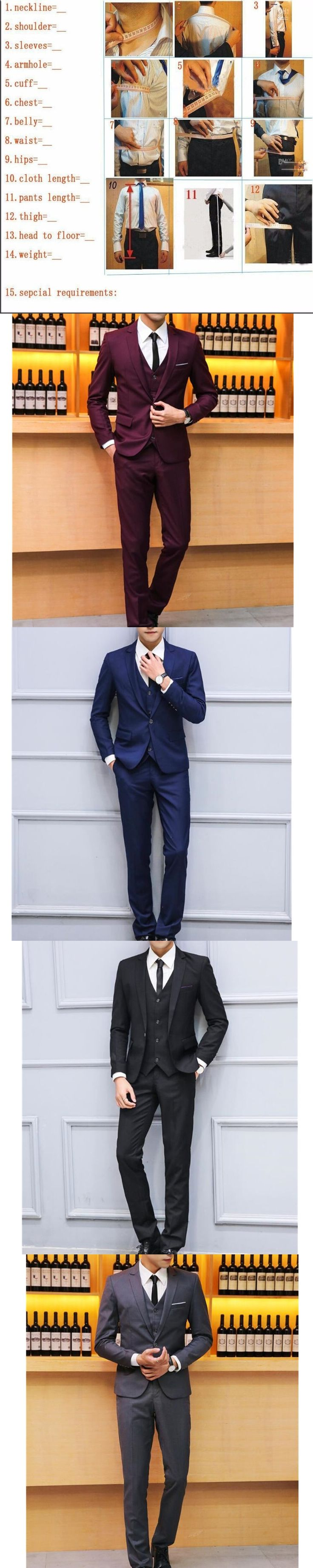 casual Simple version men's wedding the groom suit high quality custom PROM dress fashion design is a grain of buckle lapel suit