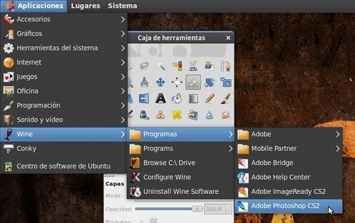 Instalar Photoshop CS2 en Linux con wine