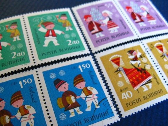 Romanian Stamps, Vintage