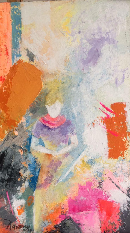 CarmenAlicia Navarro Madre invisible Acrílico sobre lienzo