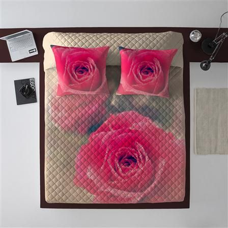 Dream & Fun Roses 180x260cm Quilted Bedspread, $85 !!