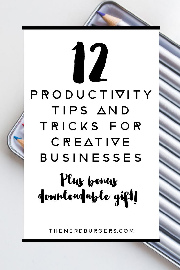Want to get more organised, stay focused, be more productive and achieve your creative business goals faster? Click through to download my top 12 productivity tools and tricks or save the pin to read later!