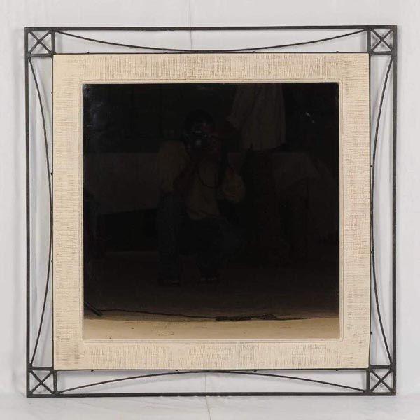 Зеркало враме «Графика» (массив дерева, металл) / Зеркала срамой издерева илатуни / Зеркала / мебель из массива, Индийская мебель, Восточная мебель