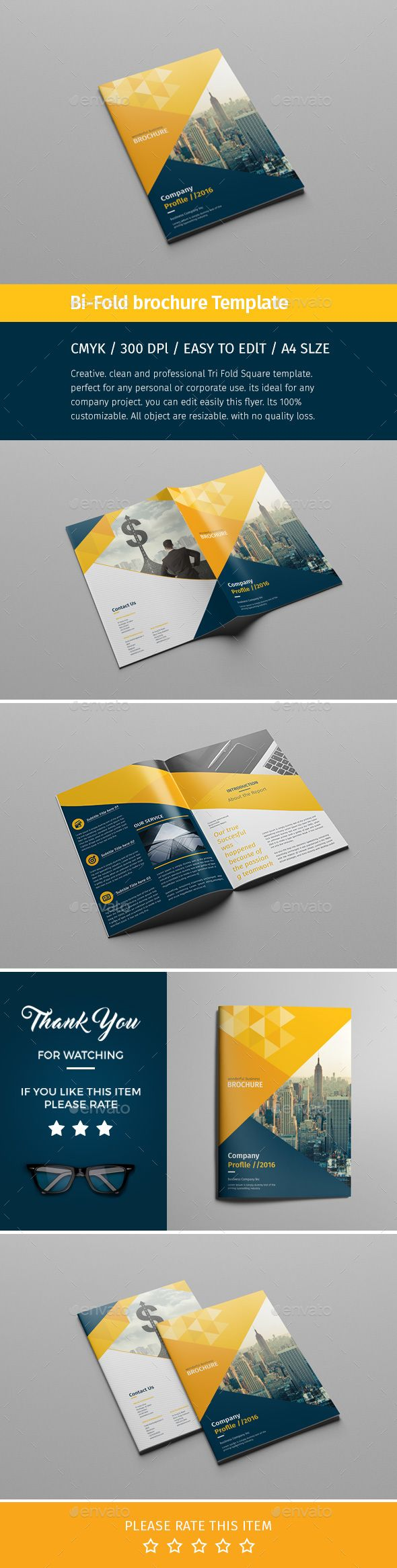 Corporate Bi-fold Brochure Template PSD. Download here…