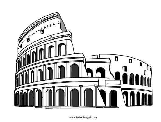 545 best images about tutto on pinterest for Colosseo da colorare