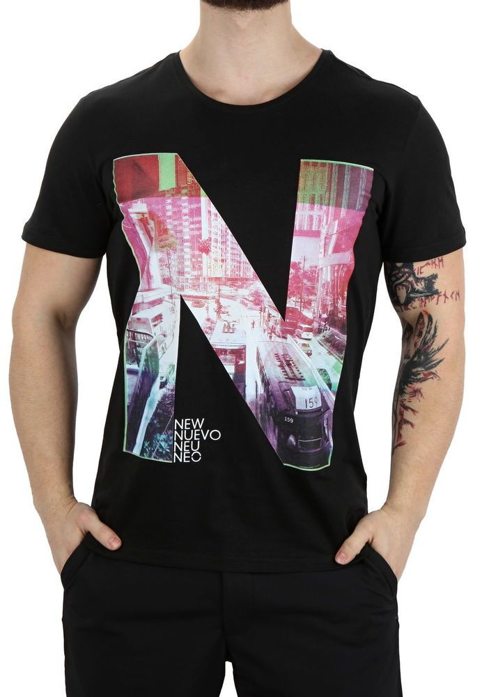 Adidas Neo Printed Men Style T-Shirt New Size M Black Color Discounted Price  | eBay
