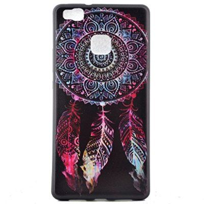 """For Huawei P9 Lite Case , ivencase Dream Catcher Slim Soft TPU Silicone Cover for Huawei P9 Lite 5.2"""" + One """"ivencase"""" Anti-dust Plug Stopper"""