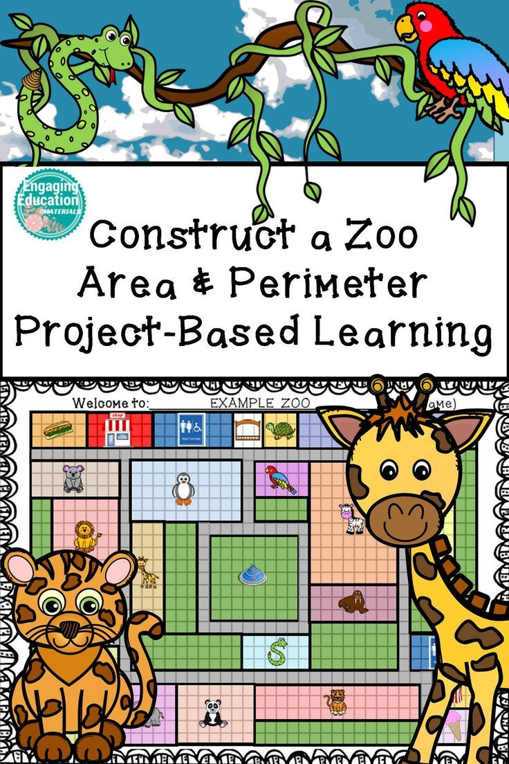 Construct a Zoo - Area and Perimeter - Project-Based Learning!  Includes differentiated tasks and rubrics.
