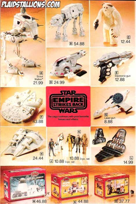 Star Wars toys - I had almost every one of these toys.  Great memories!