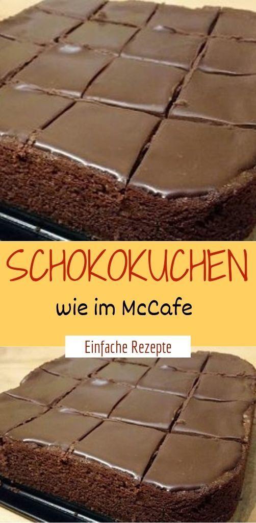 Schokokuchen wie im McCafe  – Einfache Rezepte ❤️