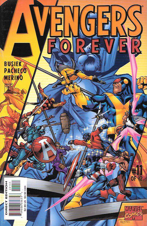 """""""The Destiny War!"""" ___ script by Roger Stern (plot) and Kurt Busiek (plot & script), Art And Cover Carlos Pacheco , This Issue Is In Very Fine / Near Mint Condition , The Story ..The Earths Mightiest"""