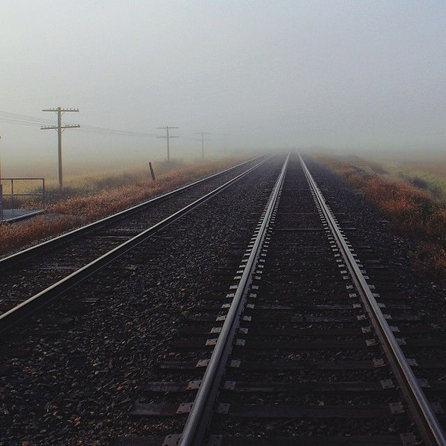 Here's to new journeys. (This was the remnants of yesterday's fog here in NW Ohio)