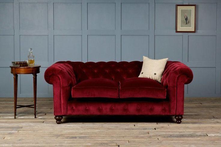St George Velvet Chesterfield Sofa